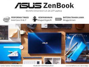 Gambar Asus Zenbook Seri terbaru warna Biru
